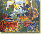 П. И. Субботин-Пермяк. «Вниз по реке». Холст, масло. 1918 год.